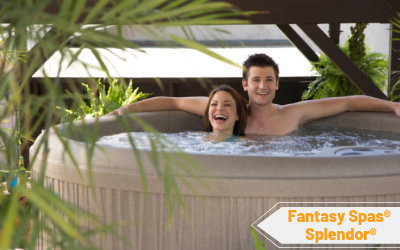 Fantasy Spas Splendor's round shape makes it ideal for many spaces.